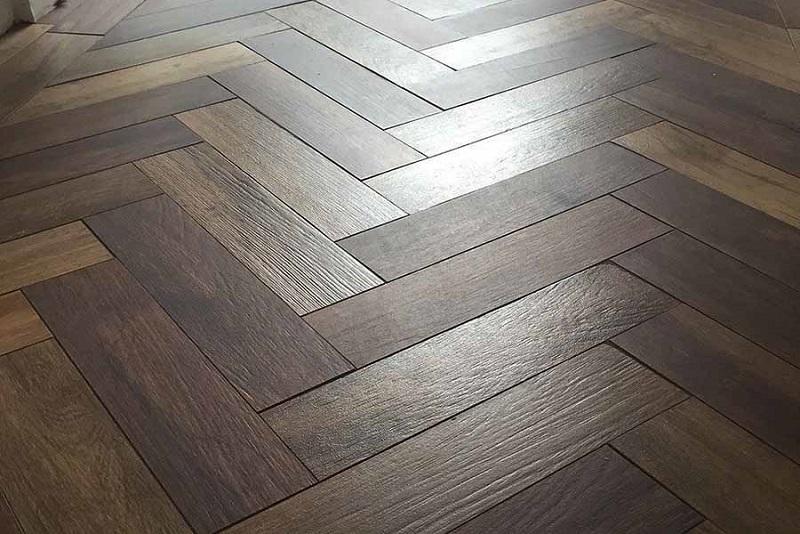 Parquet Herringbone Wood Effect Porcelain Tiles Beswickstone